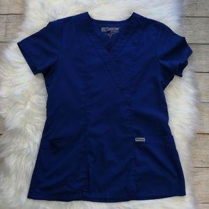 Grey's Anatomy Blue Scrub Top Size S